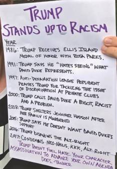TRUMP STANDS UP TO RACISM