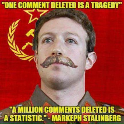 zucker facebook deleted comments tragedy statistic