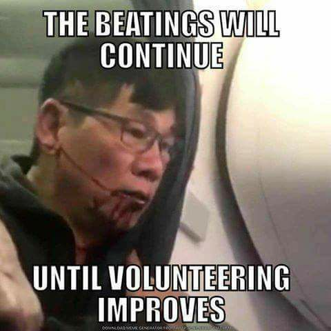 beatings will continue until volunteering improves united
