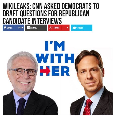 wikileaks cnn took questions from democrats