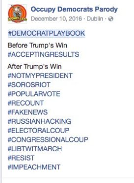 DEMOCRAT PLAYBOOK ACCEPTING RESULTS IMPEACHMENT