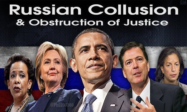 RUSSIAN COLLUSION OBSTRUCTION TEAM LYNCH HILLARY OBAMA COMEY AND RICE