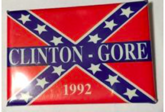 clinton gore button confederate flag