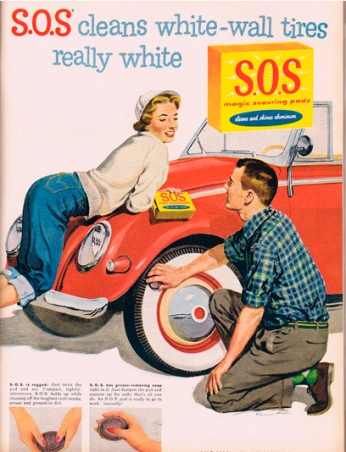 S.O.S_Cleans_White-Wall_Tires_..._Print_Ads_6783f9b5-ec42-4980-bcc2-351e96aa5bf0 50s affluence