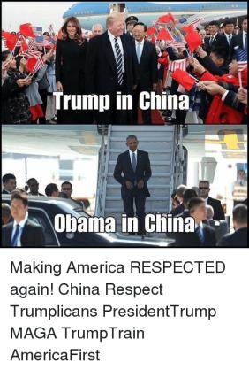 CHINA TRUMP VS OBAMA respect