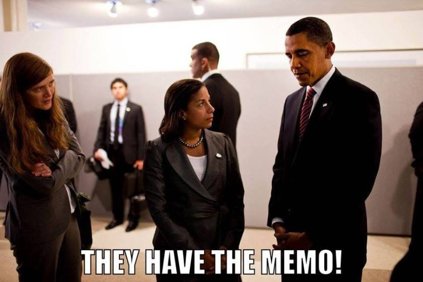 criminal obama rice democrats corruption memo