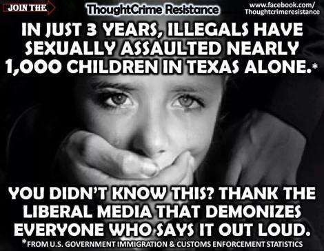 illegals assault children rape
