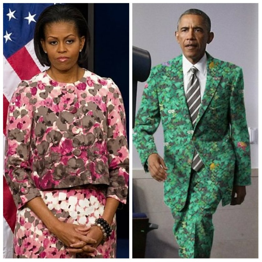 #LIBTARDFASHION statements obamas garden crap painting