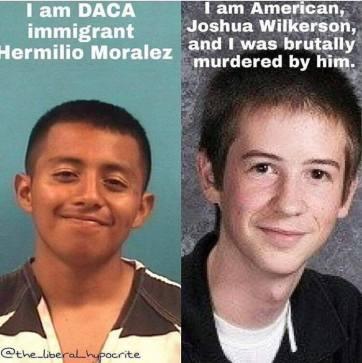 MURDERED BY DACA ILLEGAL violent dems