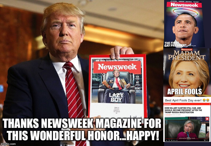 Fakenews Newsweek is Having a Bad Day!