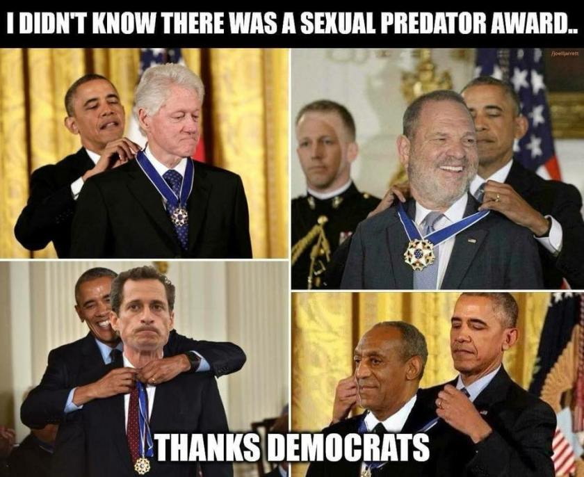 freedom medal awards sexual predator vile dems