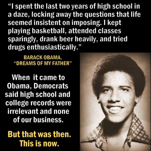 obama drugs high school years