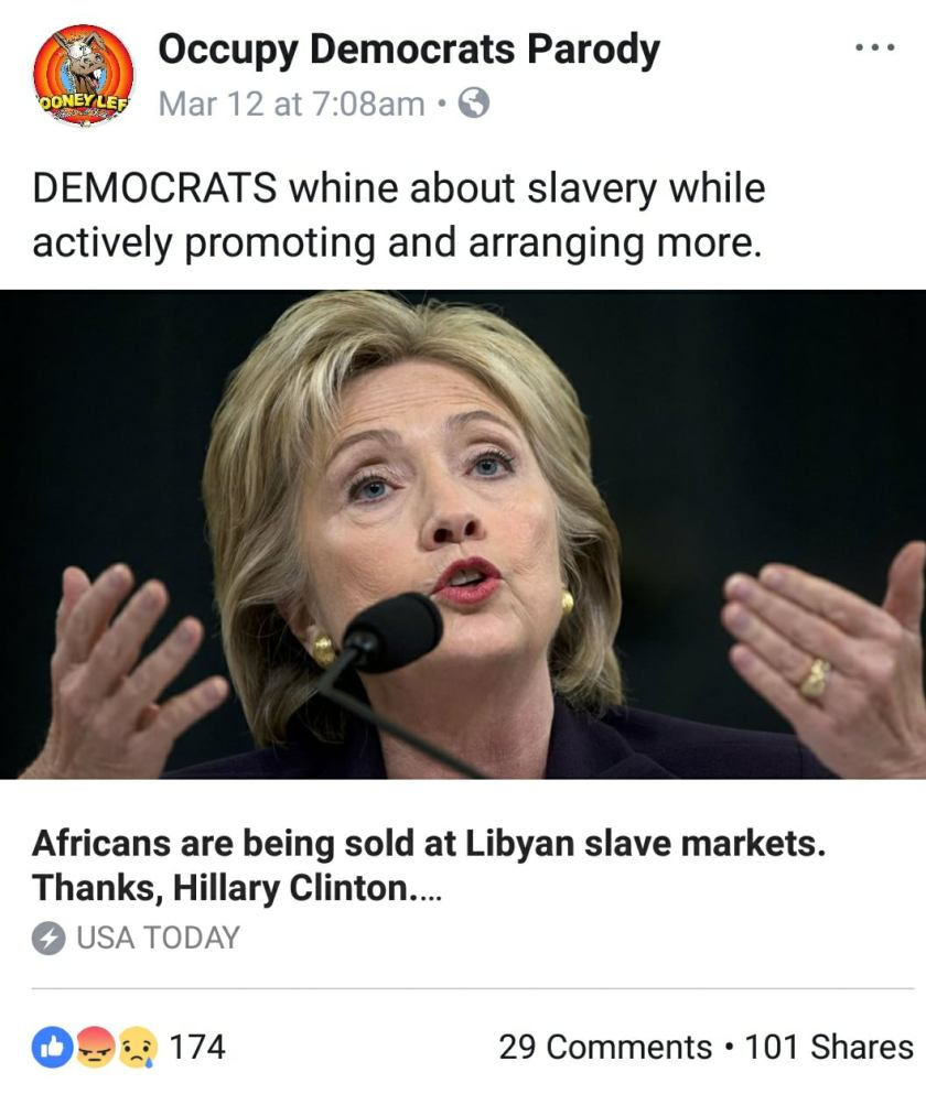 african slaves libyan markets thanks to hillary clinton policy