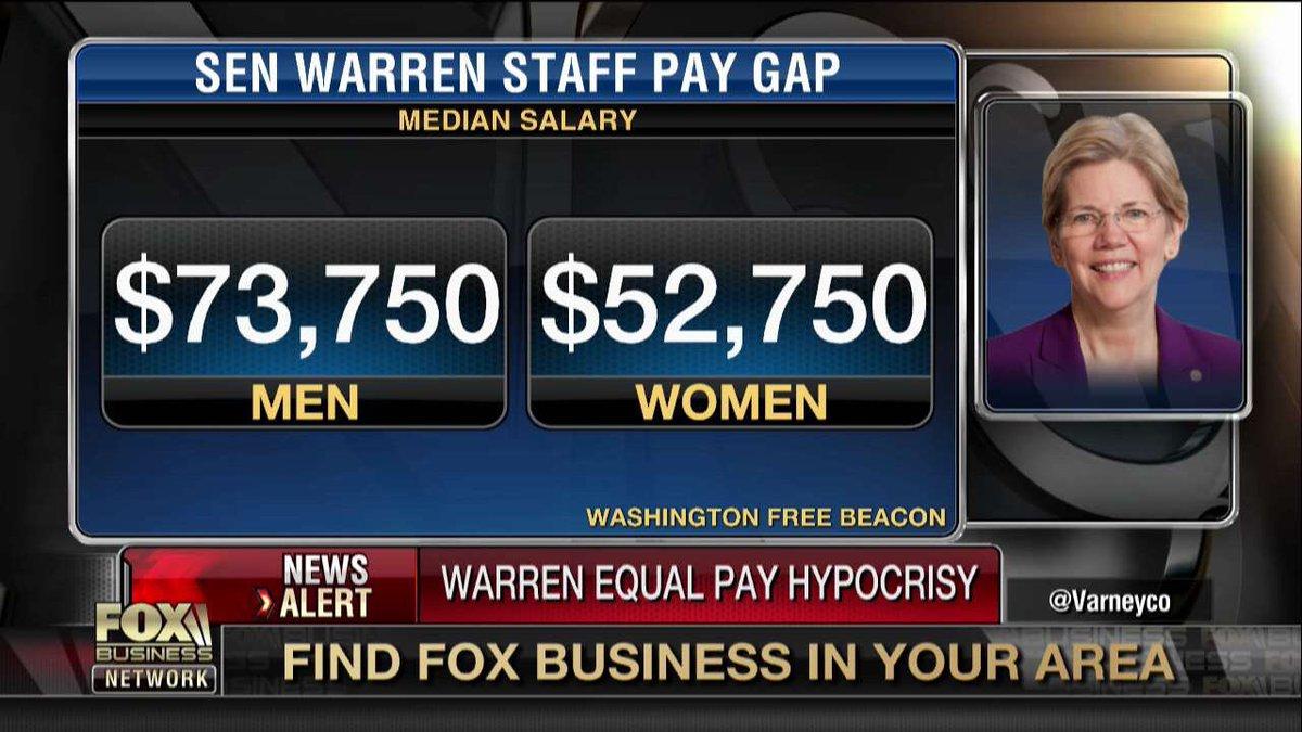 elizabeth warren staff pay gap