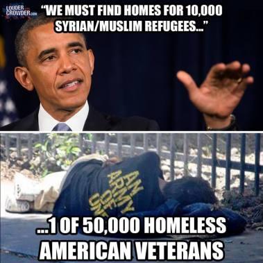 refugees vs homeless american veterans