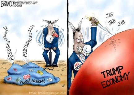 obama economy trump economy jackass boom