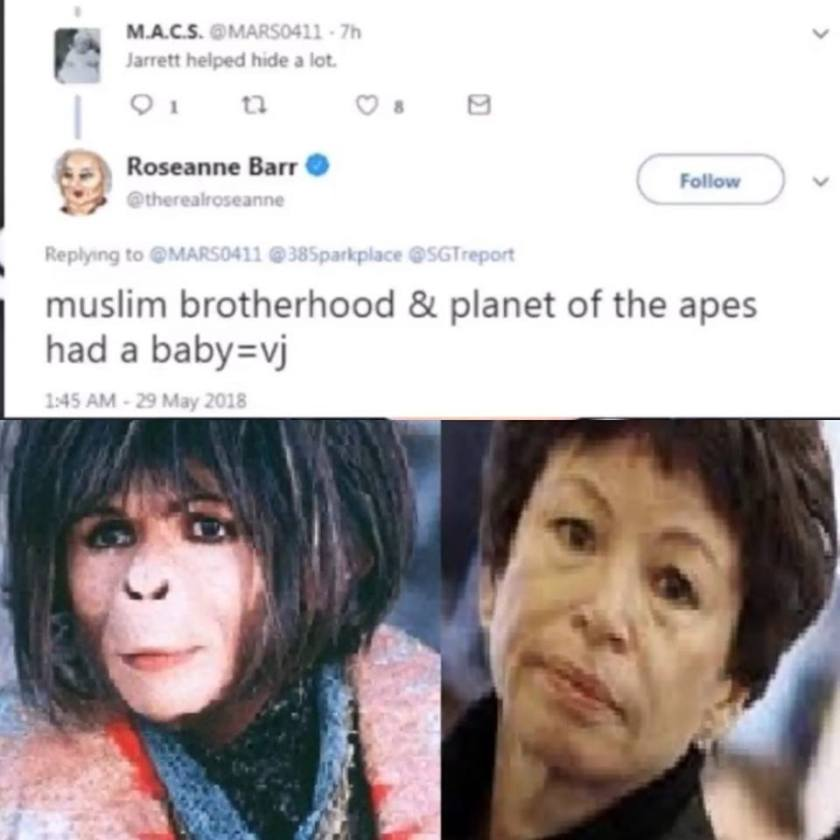 roseanne barr famous tweet vallery jarret