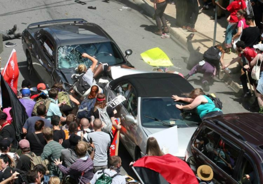 heather heyer accident multple cars