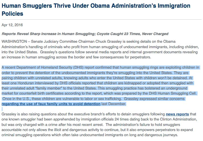human smugglers thrive under obama admin immigration separation families