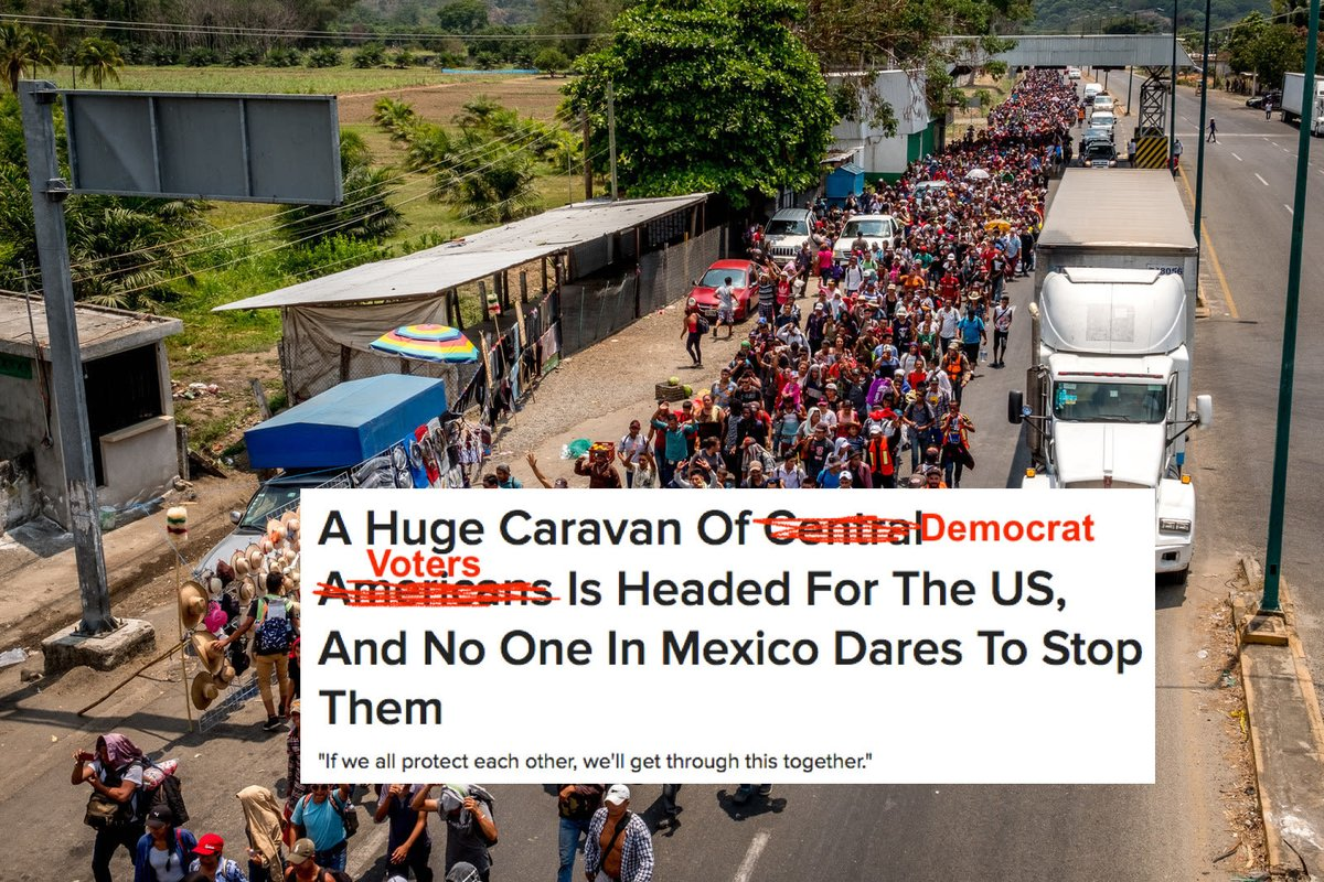 illegals caravan mexico vote fraud