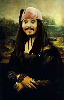 pirate jack sparrow mona lisa