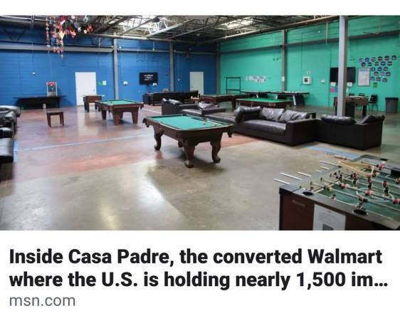 Separated kids converted walmart 1500 immigratn kids concentration camp