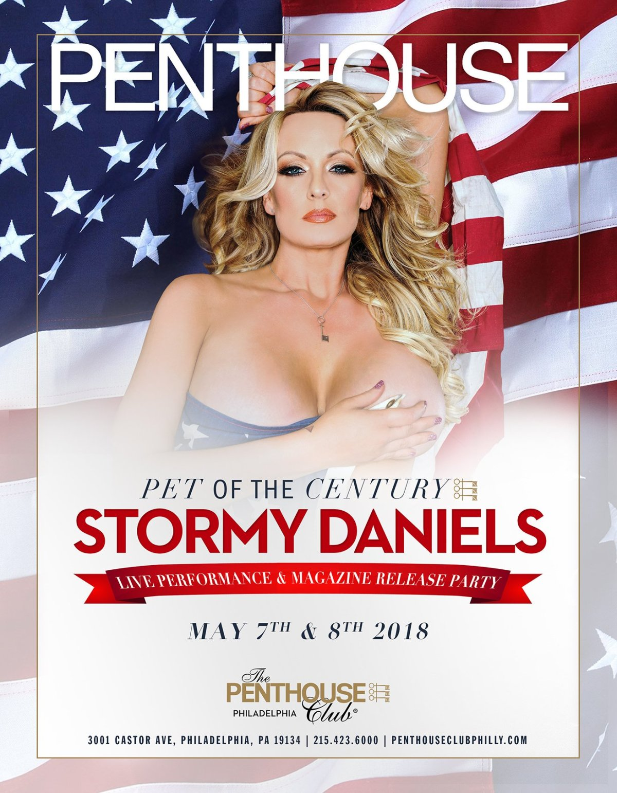 "Penthouse Proclaims Stormy Daniels their ""Pet of the Century"" 51 Years Prematurely!"