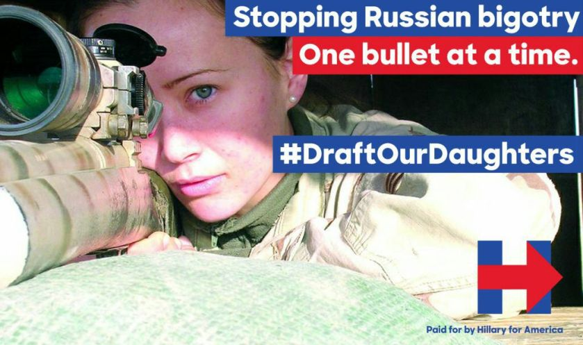 draft daughters hillary advertisement