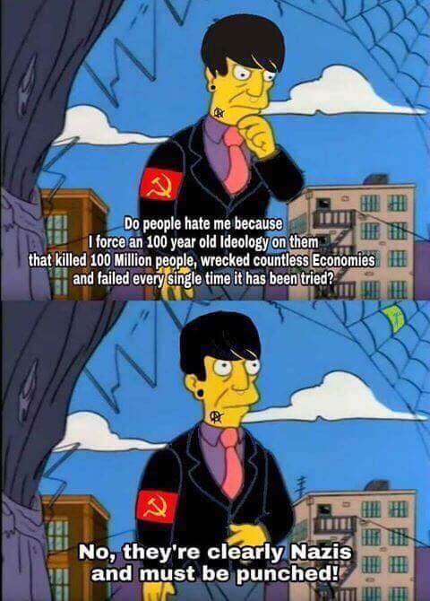 CommunistLogic punch a nazi antifa cartoon violentdems