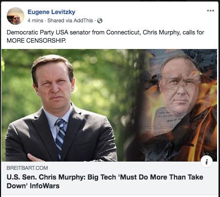 Democrat Senator Chris Murphy calls for MORE censorship
