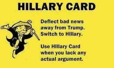 hillary card whataboutism