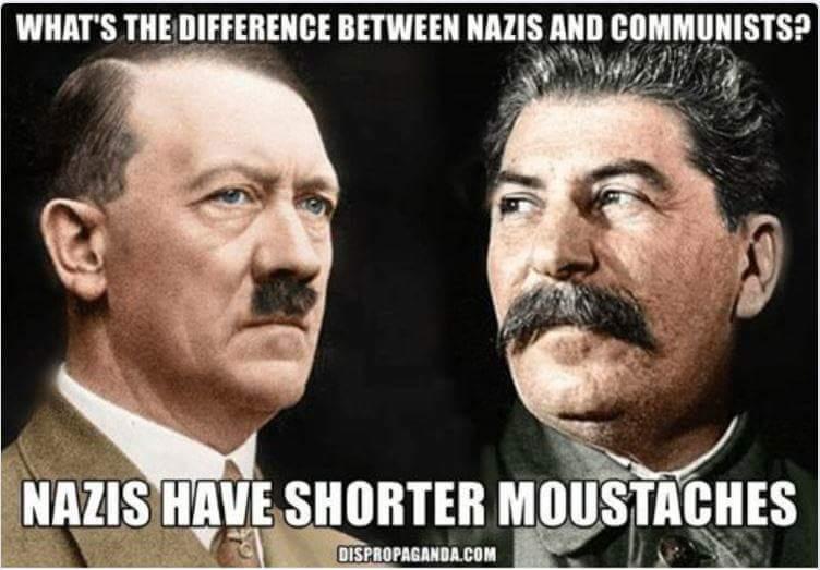 MUSTACHE HITLER VS STALIN SOCIALIST COMMUNIST