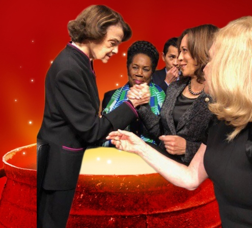 witches feinstein gillibrand kamala jackson