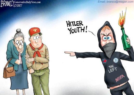 antifa fascist vs scounts hitler youth