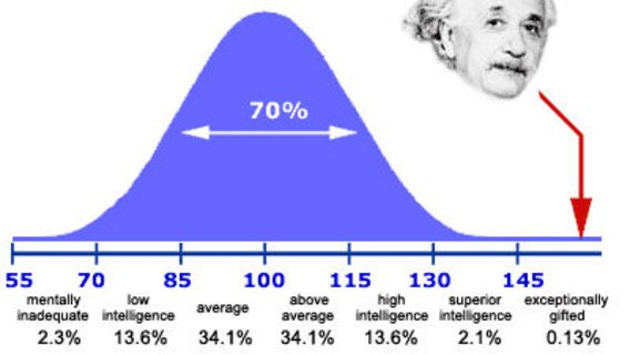 intelligence einstein bell curve