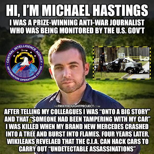 MICHAEL HASTINGS WAR ON JOURNALISM OBAMA CIA CAR HACK