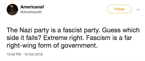 nazi is fascist extreme right tweet libtard americanaf2