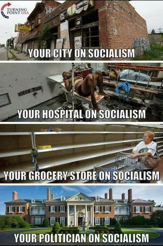 socialism city hospital grocery store politician
