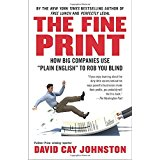 books the fine print david cay johnston