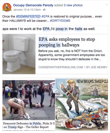 Screen Shot 2017-01-26 at 6.18.20 PM libtard poop montage epa and trump protest sweep